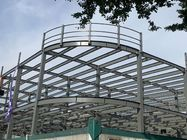 Shopping Mall Corner Arc Z Purlin Building Steel Frame