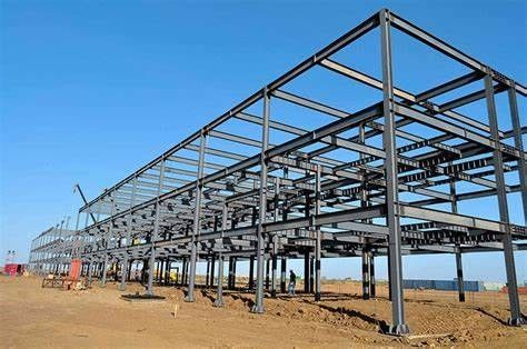Hot Rolled Steel Metal High Rise Building Structures Bolted Connection